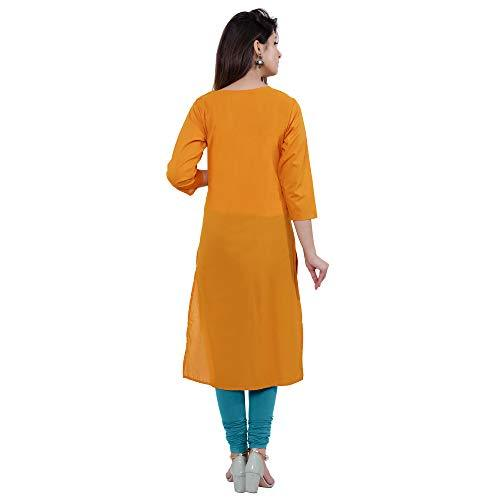 Flaray Embroidered Pure Cotton Knee long kurti for women - iZiffy.com