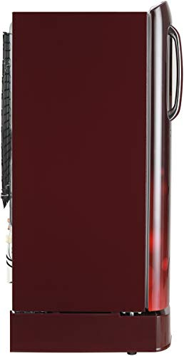 LG 190 L 4 Star Inverter Direct-Cool Single Door Refrigerator (GL-D201ASCY, Scarlet Charm)