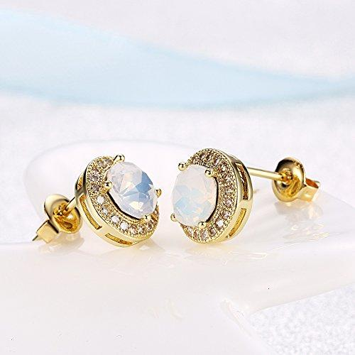 Swarovski Moonlight Sparkling Studs Earrings - iZiffy.com