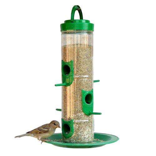 Amijivdaya Large Bird Feeder with Holding Handle (Green)