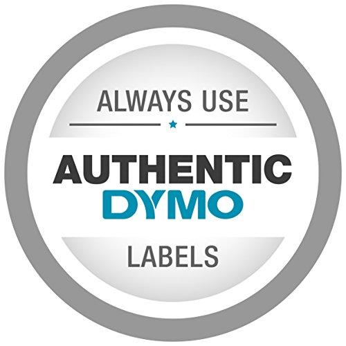 DYMO High-Performance Permanent Self-Adhesive D1 Polyester Tape for Label Makers, 1/2-inch, White Print on Black, 23-foot Cartridge, (45021) - iZiffy.com