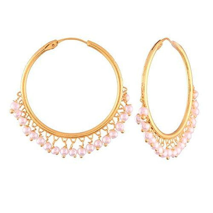 Gold Plated Pearl Chandbali Earring - iZiffy.com