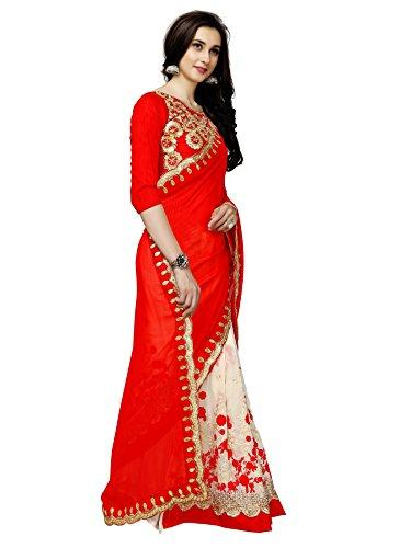 Flaray Georgette with Blouse Piece Saree - iZiffy.com