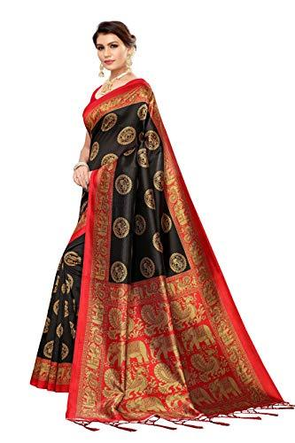 Flaray Women's Banarasi Art Silk Saree With Blouse - iZiffy.com