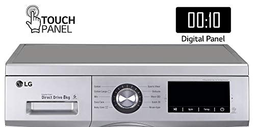 LG 8.0 Kg 5 Star Inverter Fully-Automatic Front Loading Washing Machine (FHM1208ZDL, Luxury Silver, Direct Drive Technology)