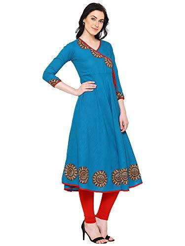 Flaray Women's Cotton Angrakha Kurta