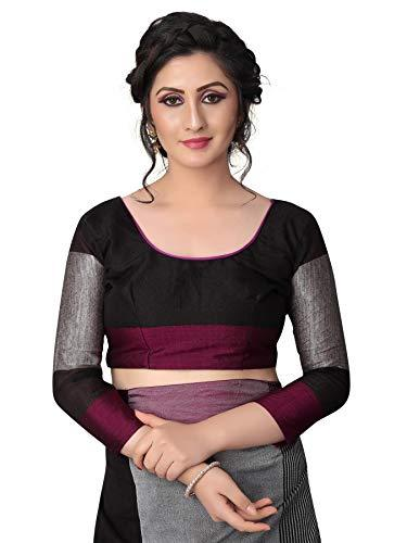Women`s Linen saree with Blouse Piece - iZiffy.com