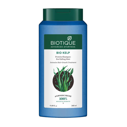 Biotique Bio Kelp Protein Shampoo For Falling Hair Intensive Hair Regrowth Treatment, 340 ml - iZiffy.com