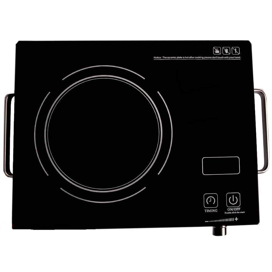 AZOD 2500-Watt 120-Volts Portable Ceramic Glass Plate Induction Cooktop Stove with Temperature Control (Black)