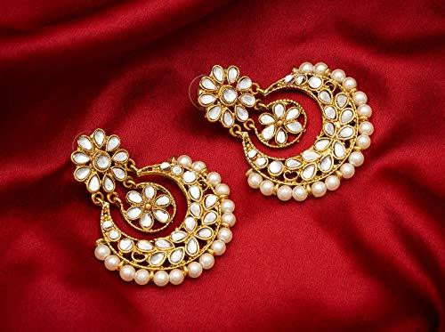 Traditional Gold Plated Fancy Dangler Chandbali - iZiffy.com