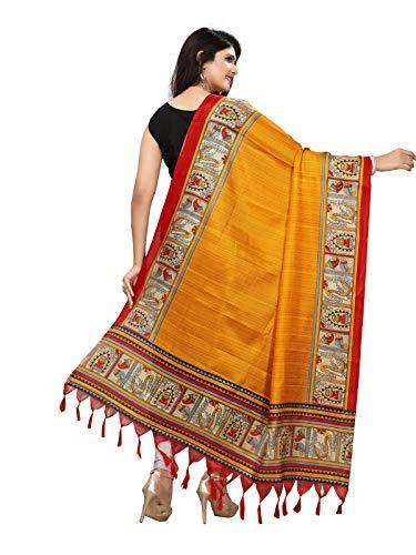 Flaray Women's Bhagalpuri Solid Printed Dupatta - iZiffy.com