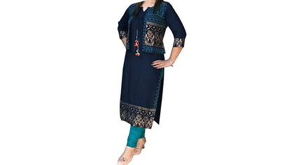 Flaray Women's Rayon Printed Straight Kurti