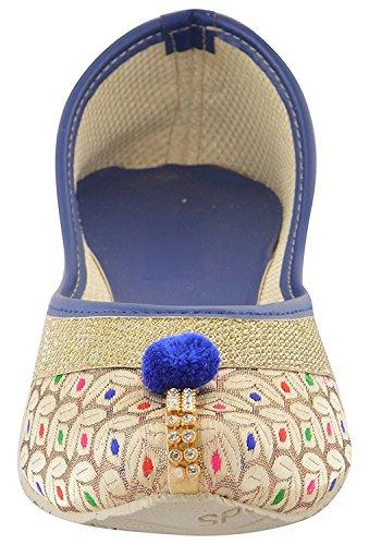 Designer Ethnic Rajasthani Jaipuri Velvet Mojari Jutti Bellies for Women and Girls - iZiffy.com
