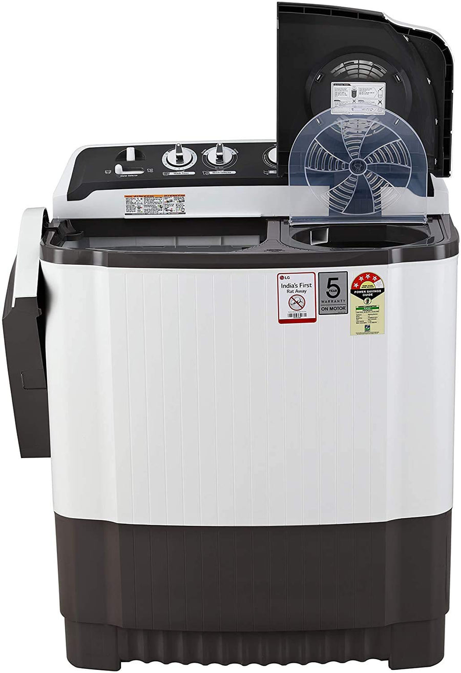 LG 7 Kg 4 Star Semi-Automatic Top Loading Washing Machine (P7020NGAY, Dark Gray, Collar scrubber)