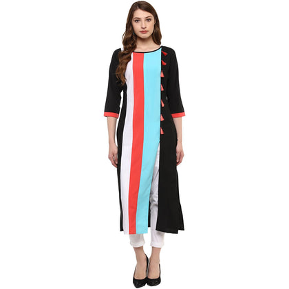 Women's Synthetic Straight Kurta