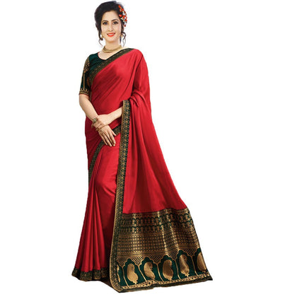 Flaray Designer saree with blouse piece - iZiffy.com