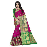 Flaray Designer Banarasi Cotton Silk Saree