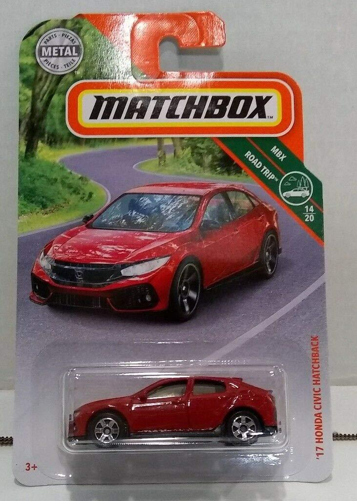 Matchbox 2019 MBX Road Trip 14/20 - '17 Honda Civic Hatchback (Red) - iZiffy.com
