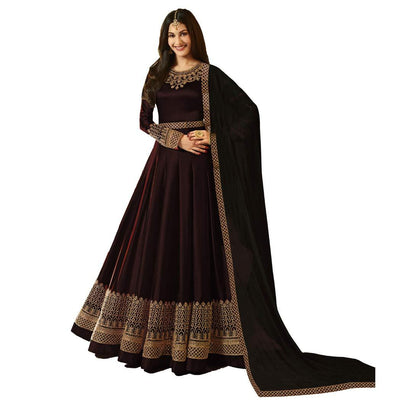 Flaray Women's Satin Georgette Long Anarkali Suit - iZiffy.com