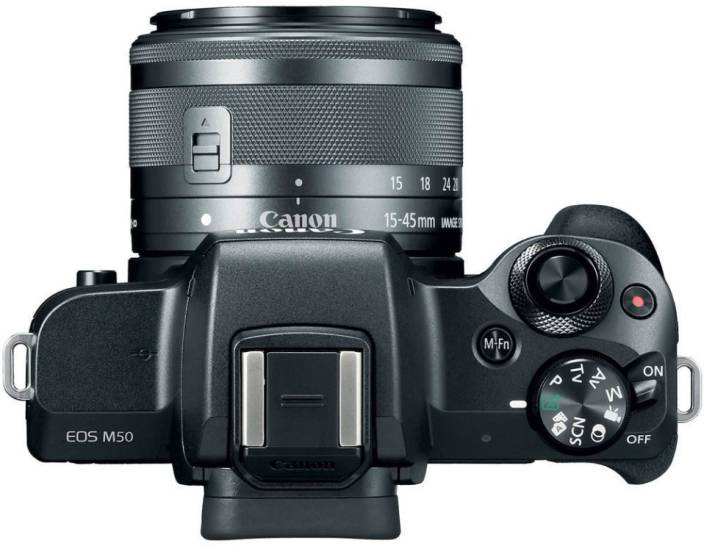 Canon M50 Mirrorless Camera Body with Single Lens EF-M 15-45 mm IS STM  (Black) - iZiffy.com