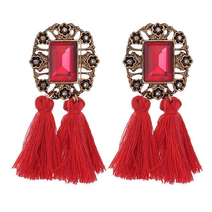 Bohemian Tassel Stylish Fancy Party Wear Earrings - iZiffy.com