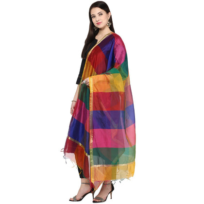 Flaray Women's Multicoloured Silk Dupatta