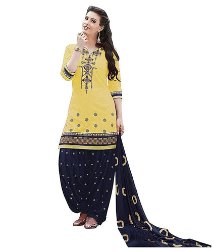 Flaray Women Cotton Patiyala Dress Material