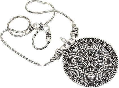 Sawarna Sterling Silver 925 Pendant Necklace Mandala With Earings - iZiffy.com