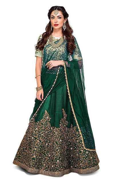 Women's Silk Semi-Stiched Lahenga Choli - iZiffy.com