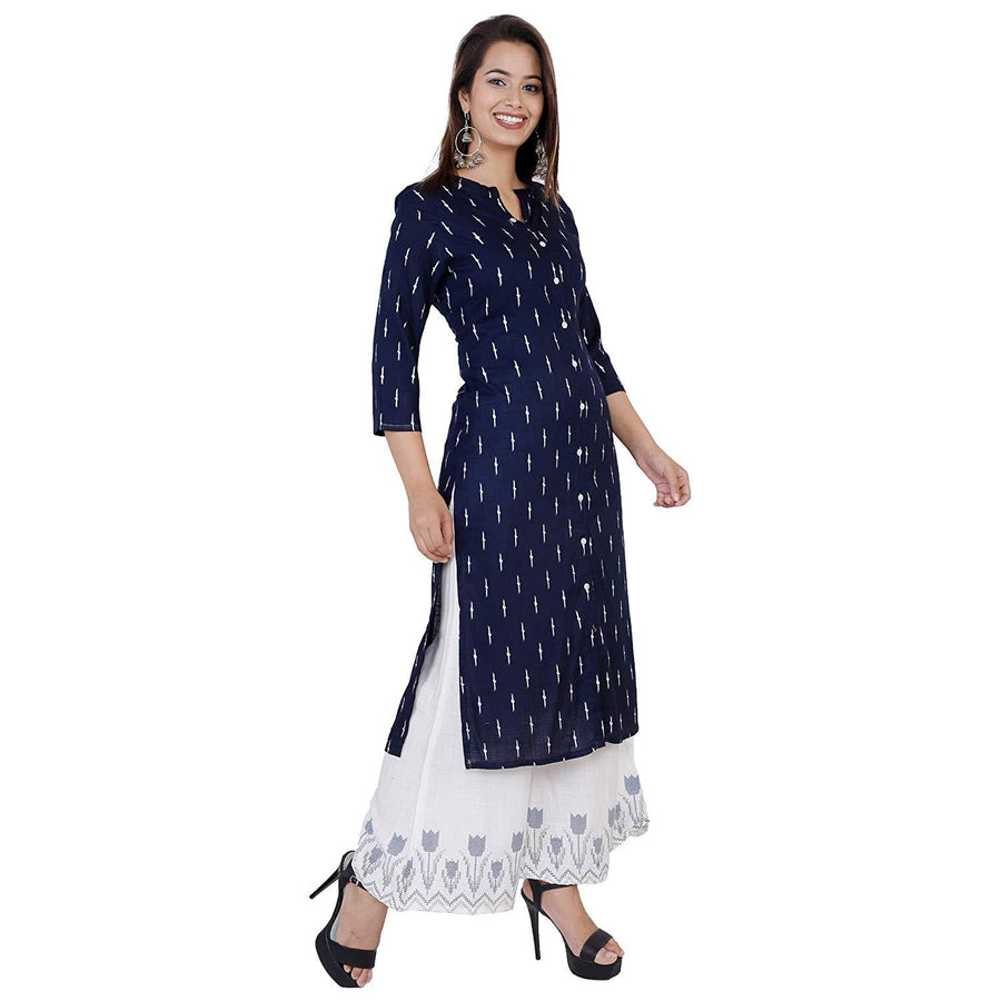 Women's Printed A-Line Kurta and Palazzo Set. - iZiffy.com