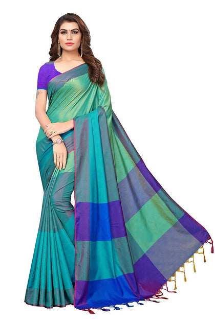Art Silk Saree with Blouse Piece - iZiffy.com
