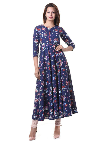 Flaray Cotton Anarkali Kurta - iZiffy.com
