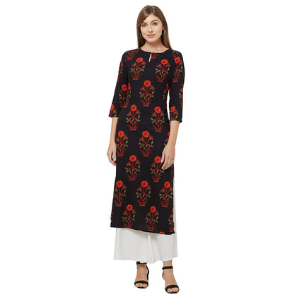 Women's Crepe Straight Kurta - iZiffy.com