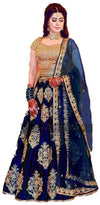 Flaray Women's Green Taffeta silk Lehenga Choli - iZiffy.com