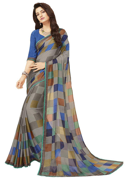 Flaray Women's Printed Crepe Saree - iZiffy.com