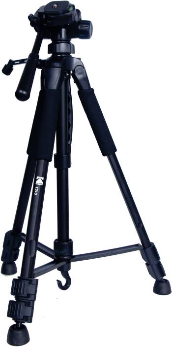 Kodak T210 150cm Three Way Pan Movement Tripod  (Black, Supports Up to 3500 g) - iZiffy.com