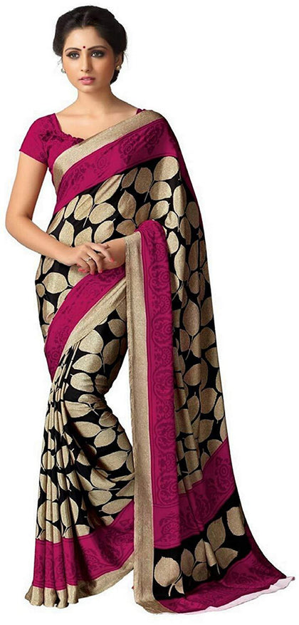 Flaray Crepe With Blouse Piece Saree - iZiffy.com