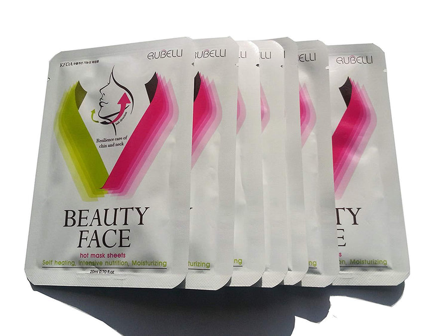 UPGRADED [Rubelli]+[beauty face]+[1belt, 7sheets/ facial lifting mask [pink lift up belt] - iZiffy.com