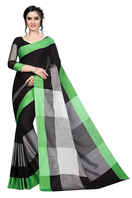 Women`s Linen saree with Blouse Piece