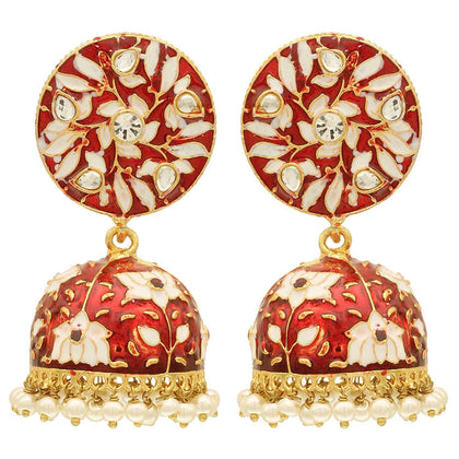 Traditional Meenakari Jhumki Earring - iZiffy.com