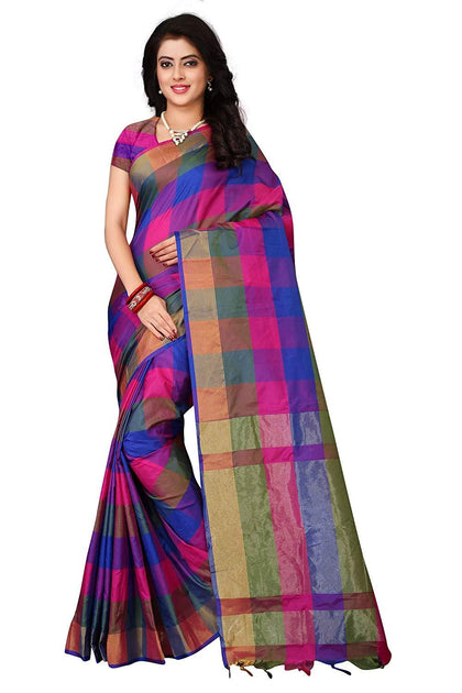 Fashion Cotton with Blouse Piece Saree