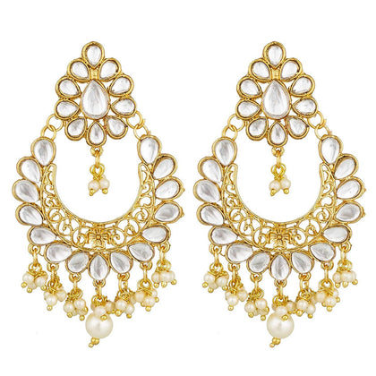 Traditional Gold Plated Fancy Dangler Chandbali