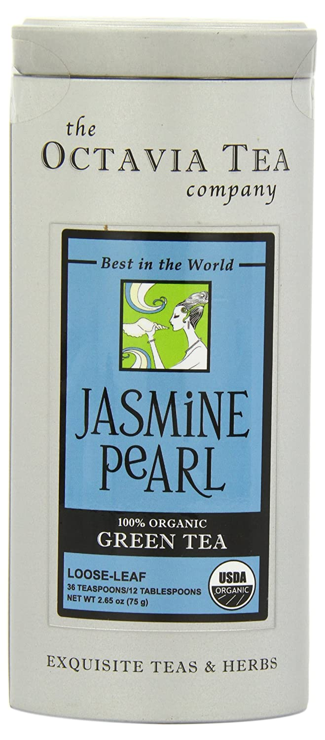 Octavia Tea Jasmine Pearl (Organic Green Tea) Loose Tea, 2.65 -Ounce Tin - iZiffy.com