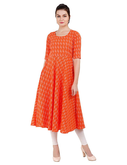 Flaray katha Thread work flared Kurti - iZiffy.com