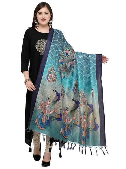 Flaray Women's Khadi Silk Dupatta