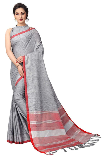 Cotton Saree with Blouse peice - iZiffy.com