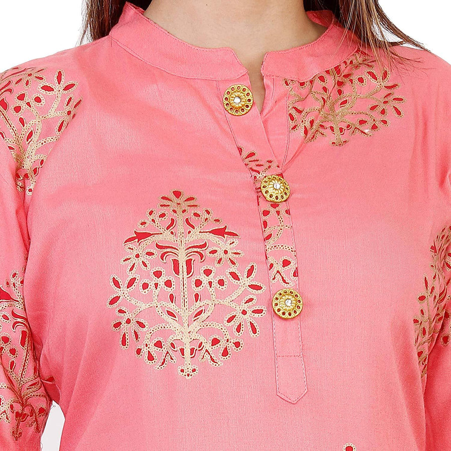 Radhika Fashion Women's Printed A-Line Kurta and Palazzo Set - iZiffy.com