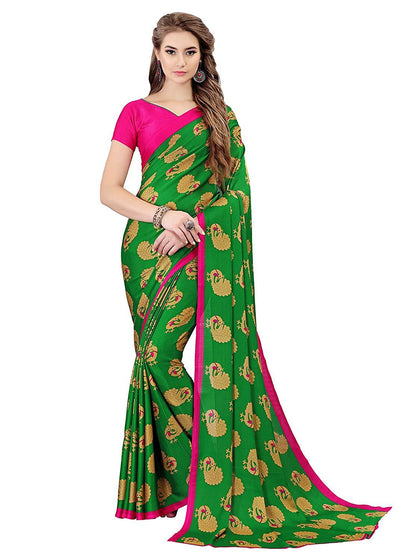 Flaray Art Silk e Saree with Blouse Piece - iZiffy.com