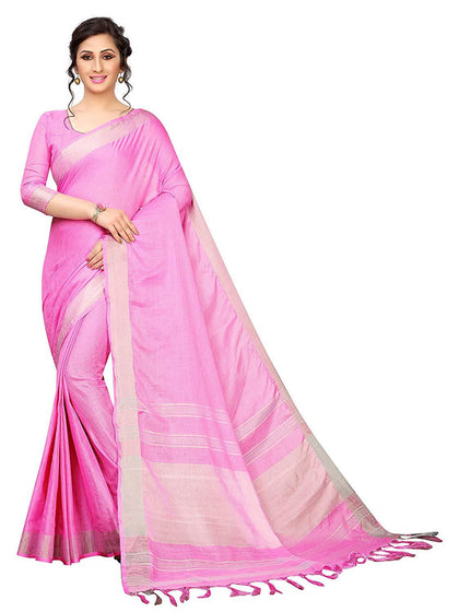 Flaray Linen Saree with Blouse Piece
