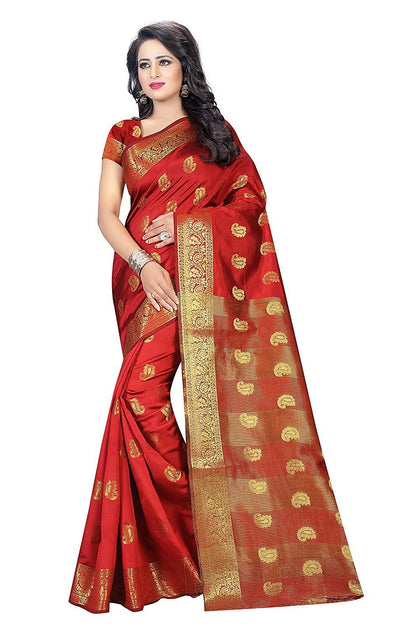 Flaray WOMEN'S ETHNIC WEAR SAREE WITH BLOUSE PIECE - iZiffy.com
